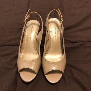Bandolino slingback heels - nude